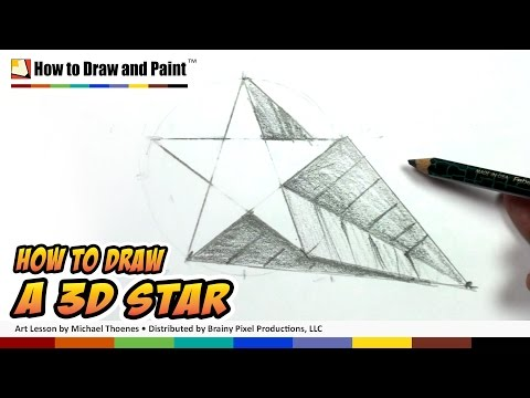 How To Draw A 3d Star Shape Art For Kids Draw A Star In