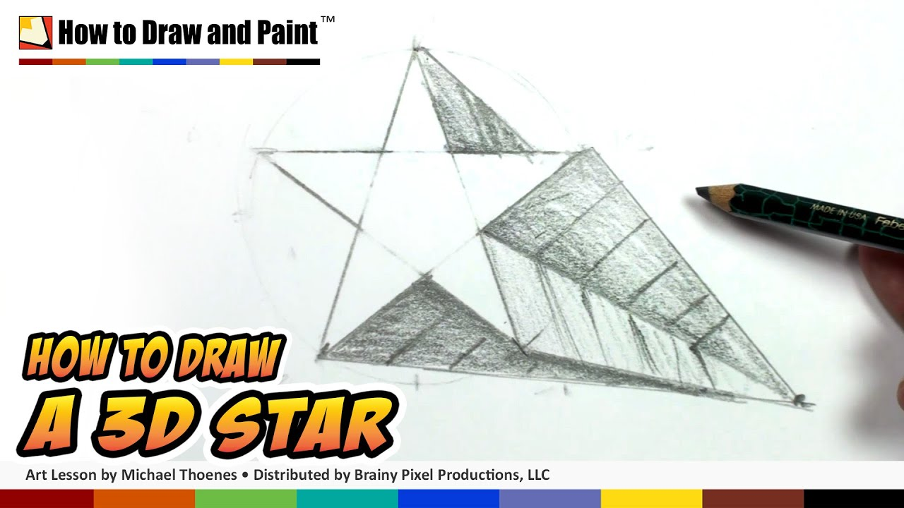 How To Draw A 3d Star Shape Art For Kids Draw A Star In One Point Perspective Mat