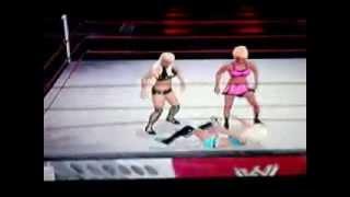 Kelly vs Maryse vs Anya vs Lacey von Erich SvR2010 4-Man Battle Royal