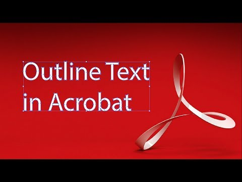 How To Outline Text In A PDF