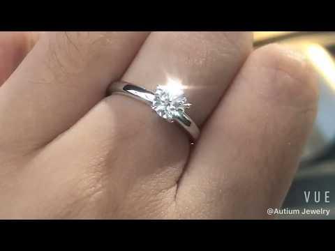 Autium Solitaire Enring Uno Trellis 0 6 1 5ct Proposal Ring
