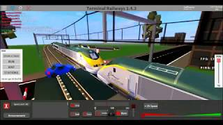 ROBLOX | Terminal Railways | Crash at Eldershire Level Crossing #1