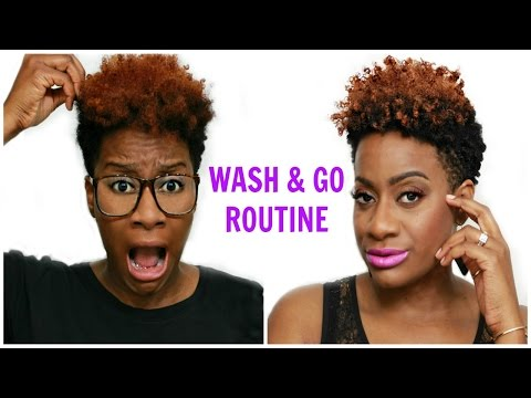 Wash & Go - Tapered Cut - Natural Hair | RushOurFashion
