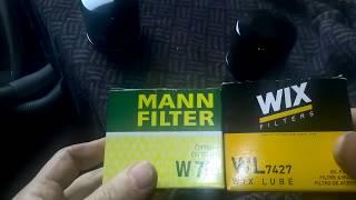 MANN или  WIX -сравнение фильтров