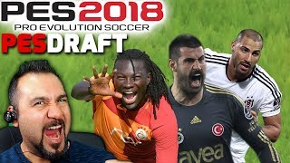 GALATASARAY-FENERBAHÇE-BEŞİKTAŞ CHALLENGE! | PES 2018 PESDRAFT