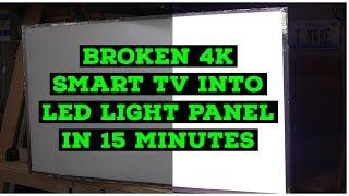 I tuned broken 4K TV into LED Light Panel in 15 Minutes
