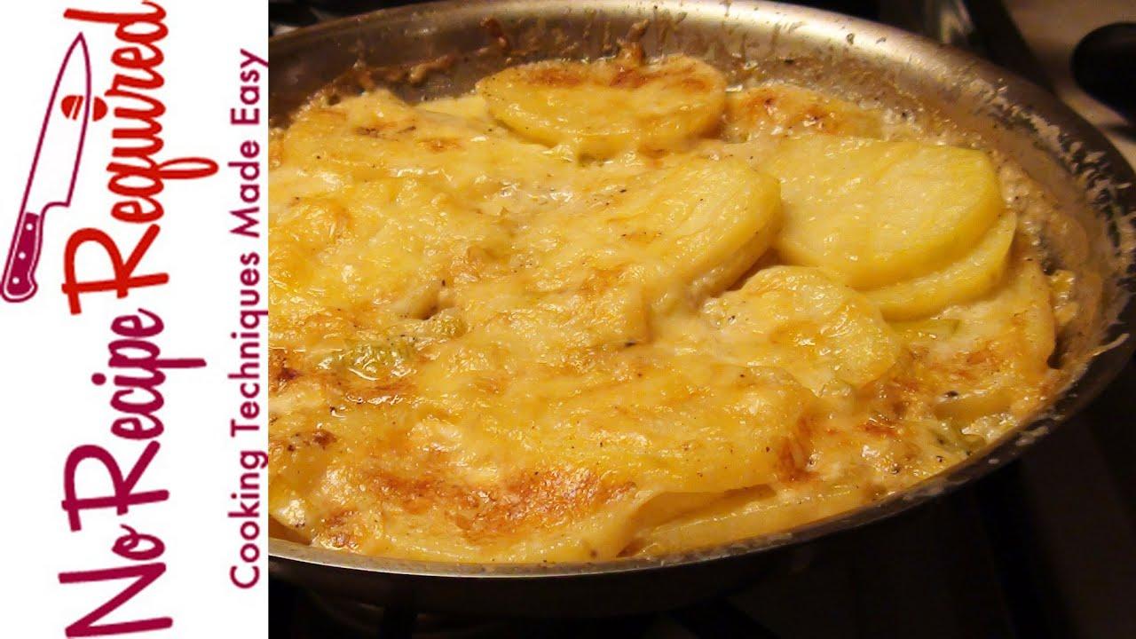 Potato Gratin With Leek Noreciperequired Com