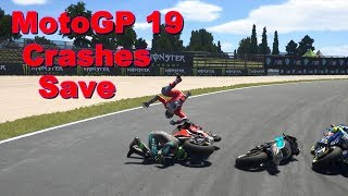MotoGP 19 | CRASHES and SAVE Compilation