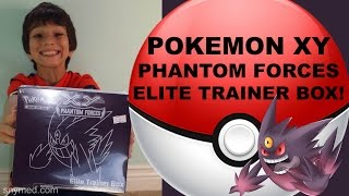 Pokemon XY Phantom Forces Elite Trainer Box Video! Jenna Em Channel