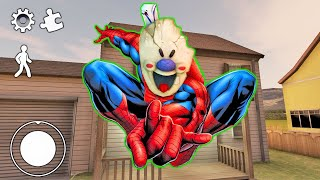 SPIDERMAN!  Funny moments in Ice Scream Chapter 3  Experiments with Rod Episode