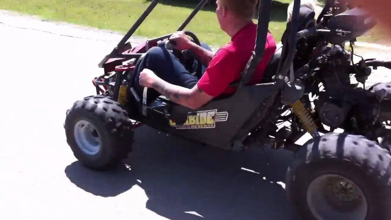 Honda 4 Wheeler >> Go-cart with four wheeler motor - YouTube