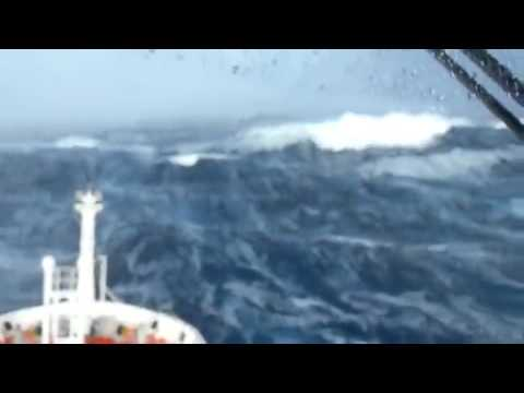Ship Hits Massive Waves Searching For Malaysia Airlines Plane