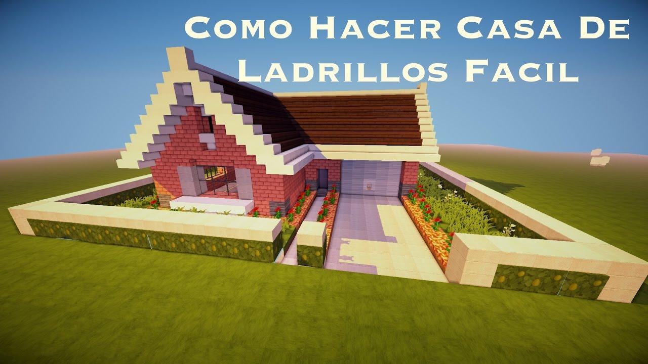 Como hacer casa de ladrillos facil pt1 youtube - Casa de ladrillos ...