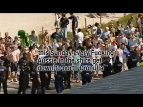 Cronulla riot - Sydney NSW Australia