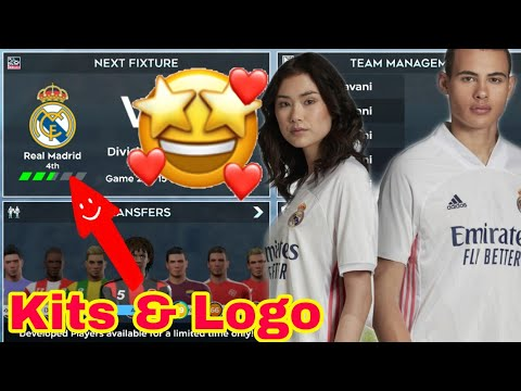 How To Make Real Madrid New Kits & Logo | Dream League Soccer 2020.