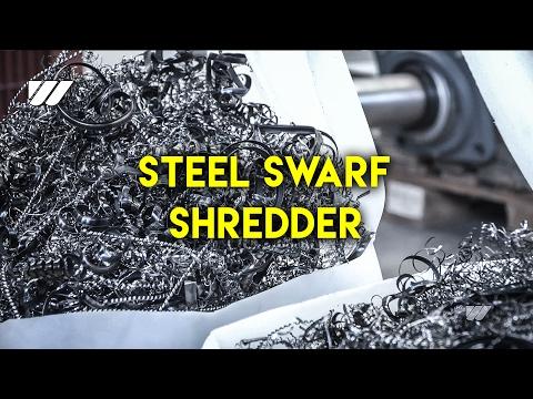 WEIMA WL 4 metal shredder shreds steel swarf