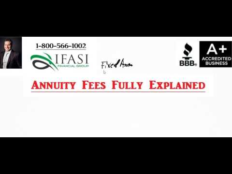 Annuity Fees - What are Annuity Fees