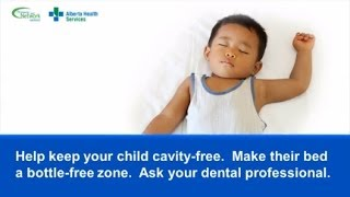 Make your child's bed a bottle-free zone