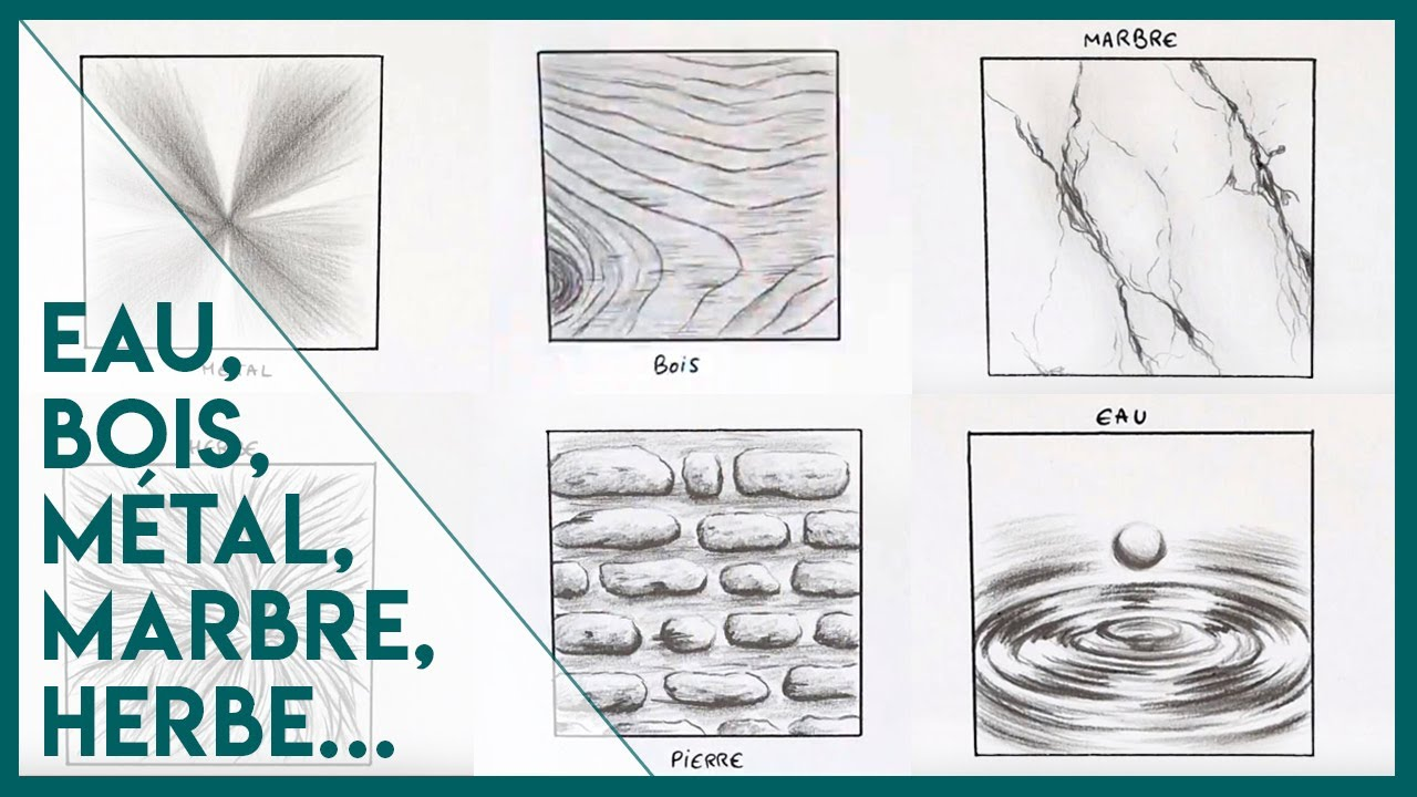 Dessiner Différentes Textures Bois Marbre Close To Art