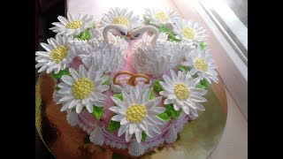 Тортик на ромашковую свадьбу