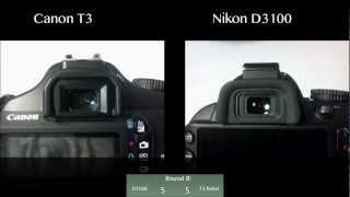 Nikon D3100 vs Canon T3 Rebel