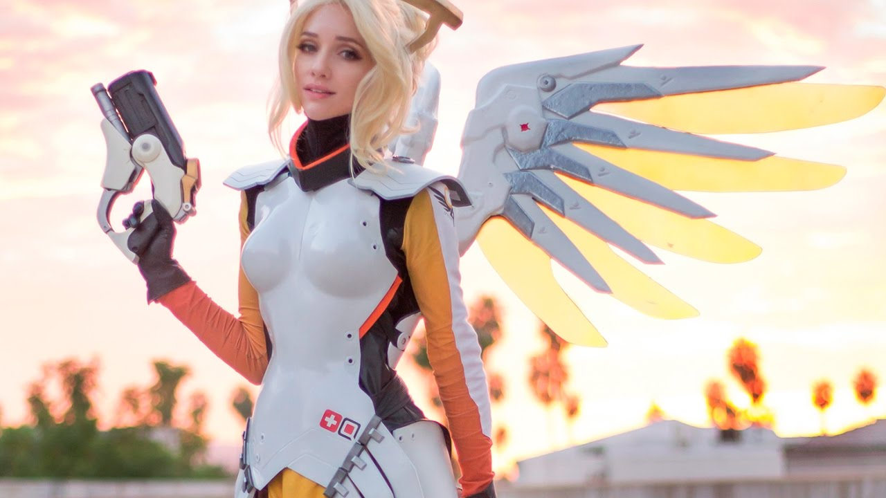 how to draw mercy overwatch tutorial