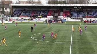 SUFCtv: MATCH HIGHLIGHTS Sutton United Women vs Crystal Palace Dev B (Capital Women Cup SF) 15/03/20