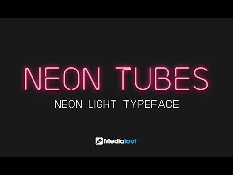 Neon Tubes Font Demo - Creating A Neon Glow Effect With Photoshop