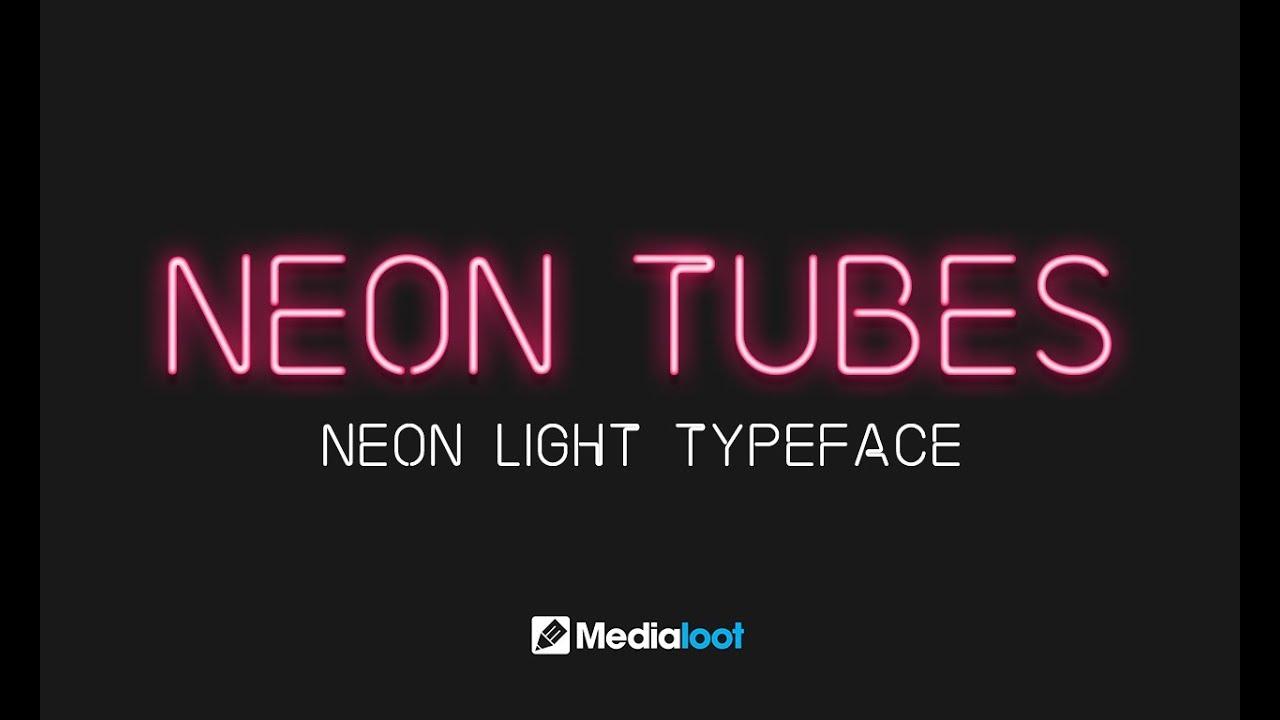 neon tubes font demo