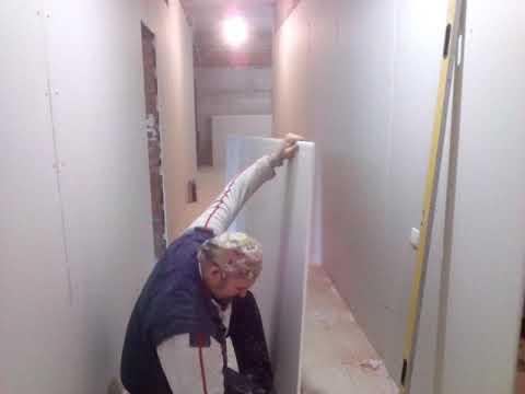 Как крепить гипсокартон к стене без профилей на дюбель гвозди видео