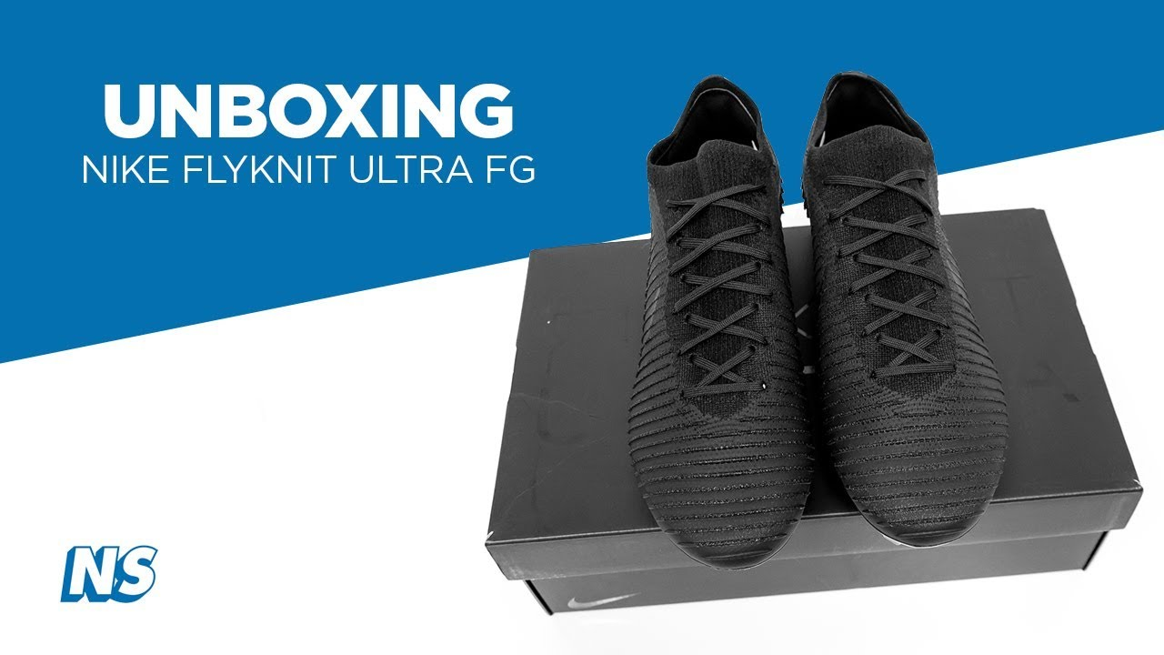 65b35612536 Nike Flyknit Ultra FG Black Unboxing by Niky's Sports