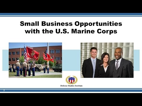 Small Business Opportunities with the U.S. Marine Corps (20 April 2017)