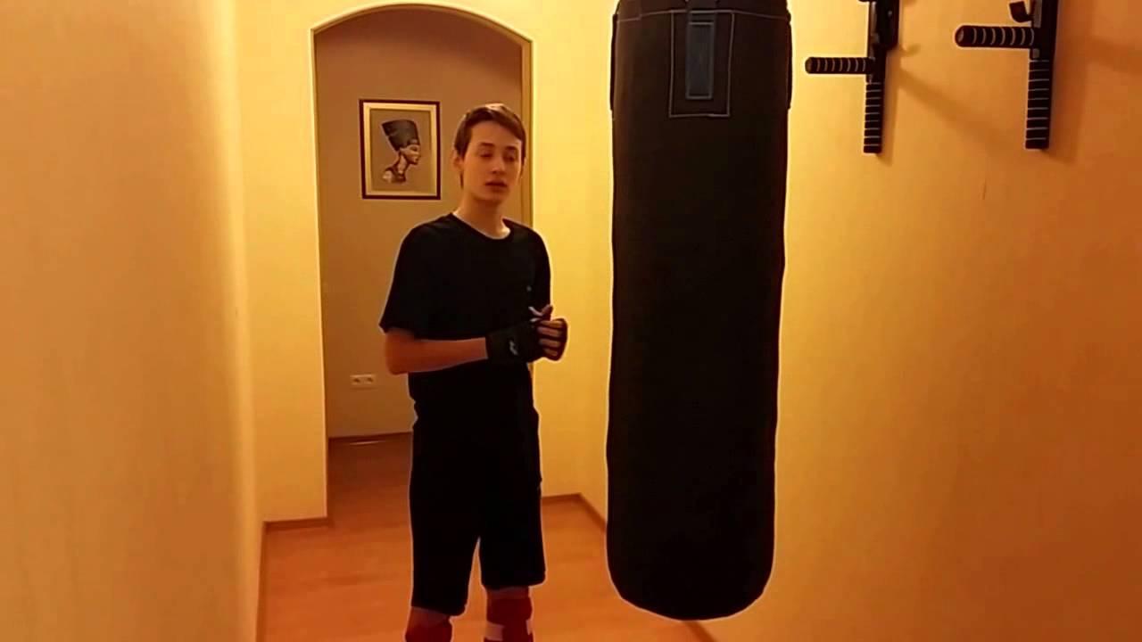 Тренируюсь выписывать люлей чмошникам! )) Качок и боксерская груша .