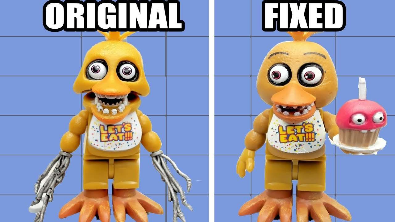 Fixed VS Original Lego Animatronics in Five Nights at Freddy's #1