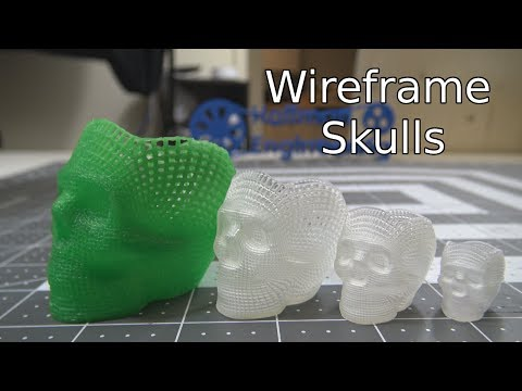 3D Printing Impossible to Manufacture Objects - Wireframe Skull