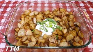 How to Make Baked or Roasted Onion Potatoes in the Toaster OvenEasy Inexpensive Side Dish