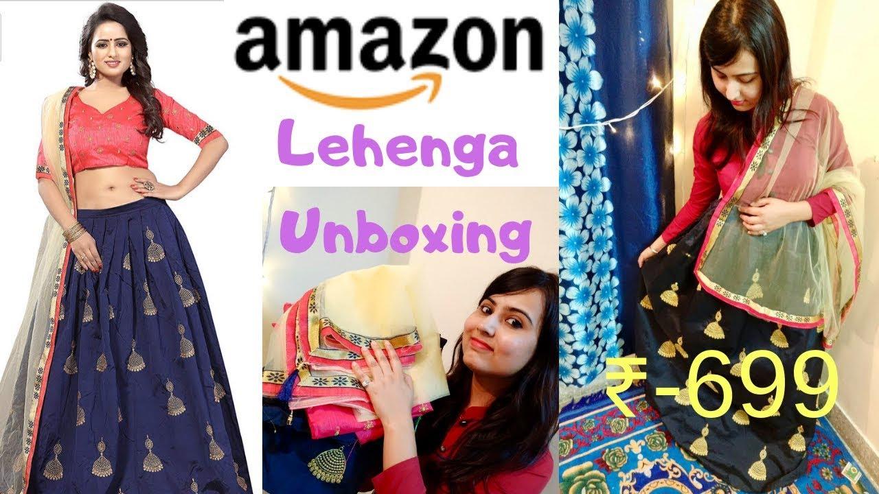 33dd84e177 Amazon most famous lehenga Review | Is it really worth buying? | Lehenga  unboxing-Gunjan Badjatya
