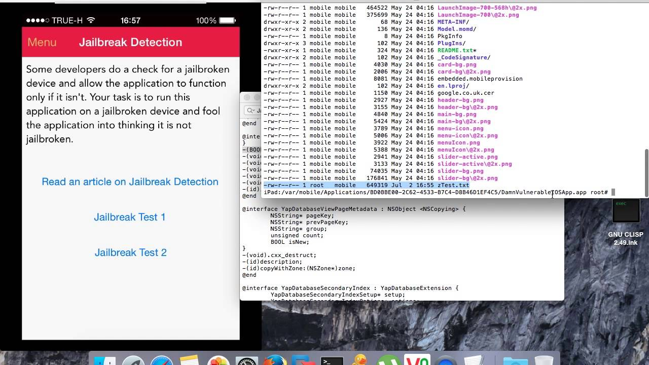 How to bypass the jailbreak Detection Method Swizzing