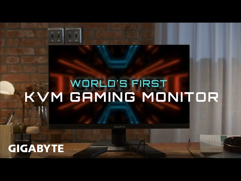 GIGABYTE M Series Monitors | World's First Gaming Monitor with KVM