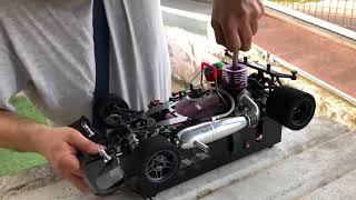 RC Modellismo Caserta - Primo avviamento rodaggio motore Novarossi Mito9 on road ceramic Serpent 988
