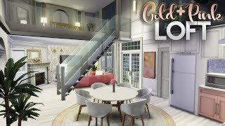 GOLD & PINK LOFT + CC LINKS | GIVEAWAY WINNER | The Sims 4 Speed Build