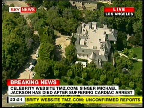 Sky News TV - Michael Jackson Has Died, Confirmation HD