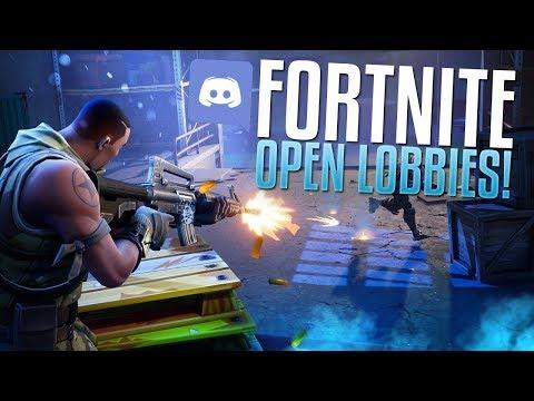 Fortnite Open Lobbies! (Discord Game Night)