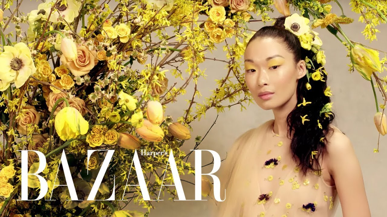 Chic New Floral Hairstyles | Death to the Flower Crown | Harper's BAZAAR