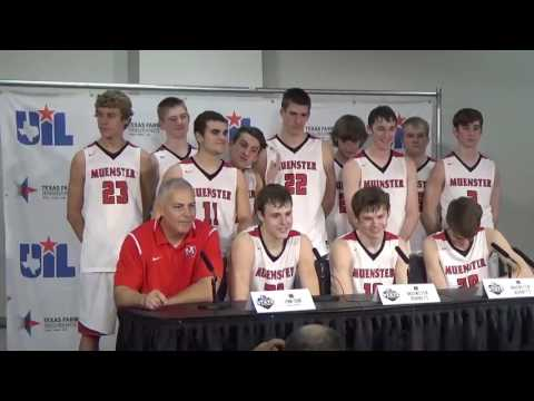 Muenster High School Hornets UIL 2A State Champions Postgame Press Conference 3 11 2017