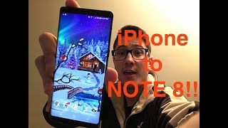 SWITCHING from IPHONE to NOTE 8