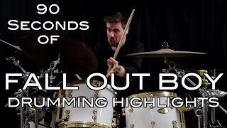 90 Seconds of Fall Out Boy Drumming Highlights
