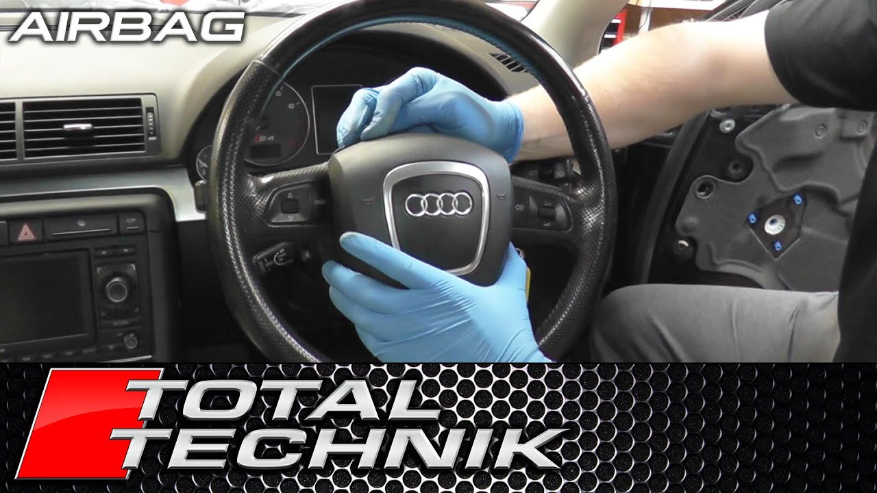 How To Remove Airbag Audi A4 S4 Rs4 B7 2005 2008 Total Technik Youtube