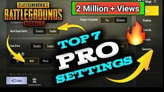 Top 7 Settings in PUBG Mobile Only Pro Players USE {Hindi}