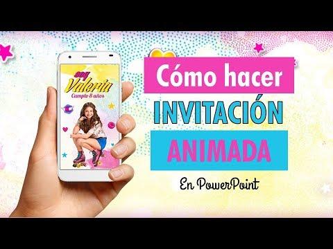 Como Hacer Una Video Invitación O Invitación Animada De Soy Luna En Powerpoint